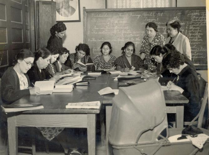 An English class at the Clinic