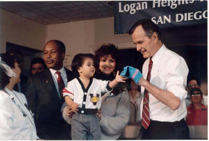 President Bush at the Clinic