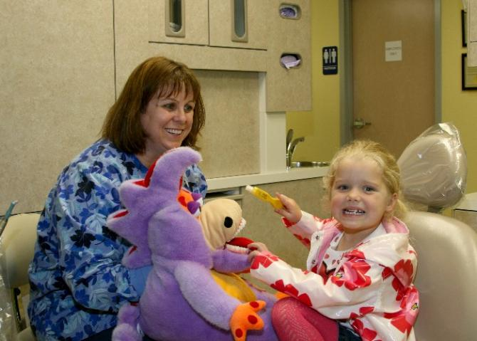 Helen Robinett with Patient