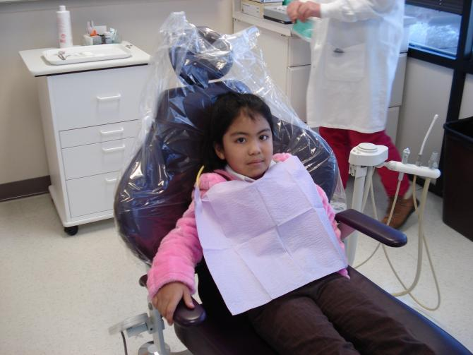 A young dental patient