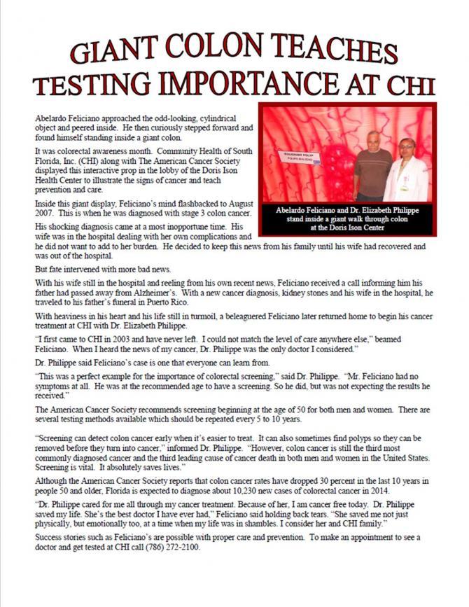 Giant Colon Teaches Testing Importance